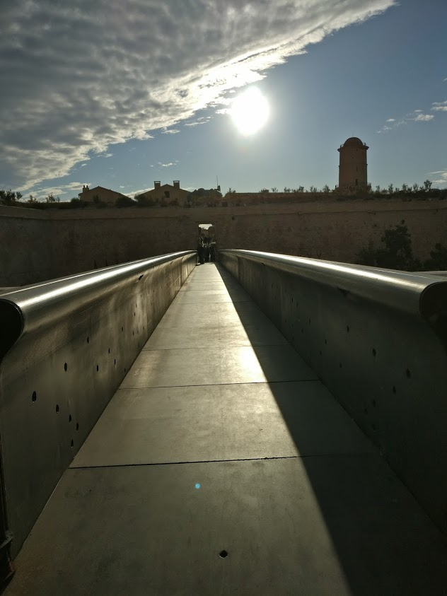 walkway to fort